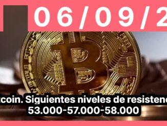 Bitcoin. Siguientes niveles de resistencia 53.000-57.000-58.000